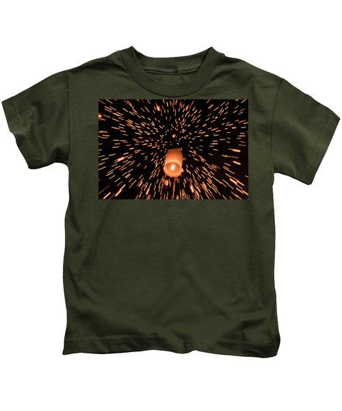 Lanterns In The Sky Kids T-Shirt