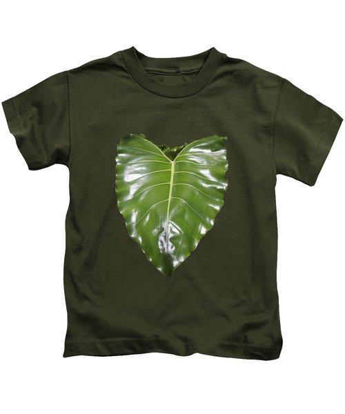 Large Leaf Transparency Kids T-Shirt