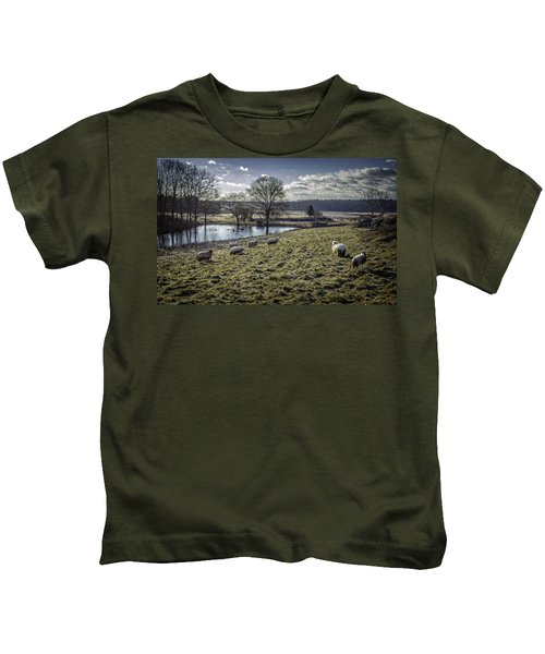 Late Fall Pastoral Kids T-Shirt