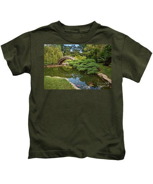 Lead The Way - The Beautiful Japanese Gardens At The Huntington Library With Koi Swimming. Kids T-Shirt