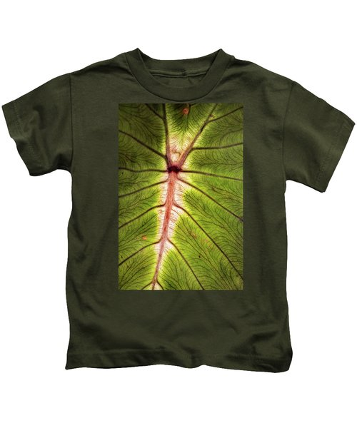Leaf With Veins Kids T-Shirt