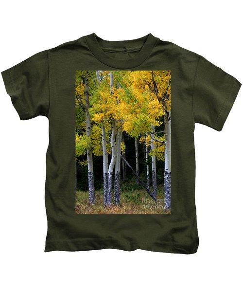 Leaning Aspen Kids T-Shirt