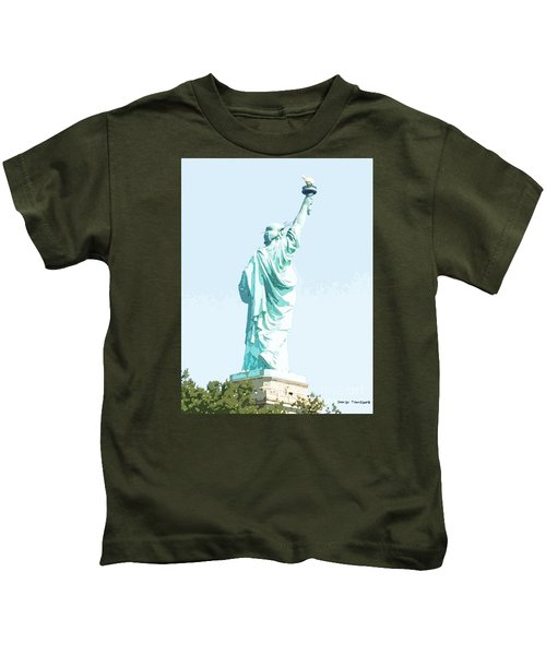 Leap Of Liberty Kids T-Shirt