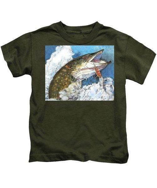 leaping Pike Kids T-Shirt