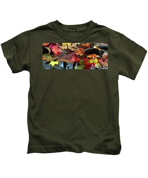 Leaves Of Color Kids T-Shirt
