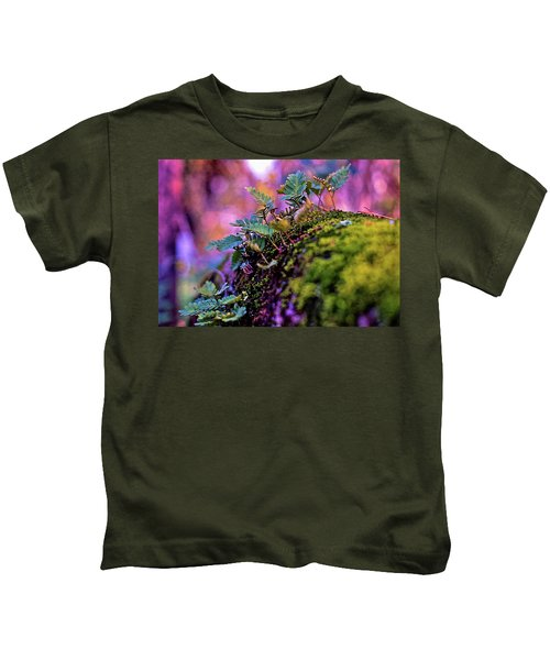 Leaves On A Log Kids T-Shirt
