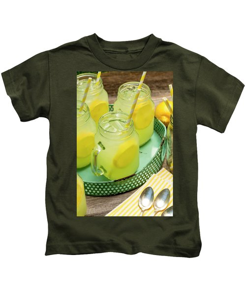 Lemonade In Blue Tray Kids T-Shirt