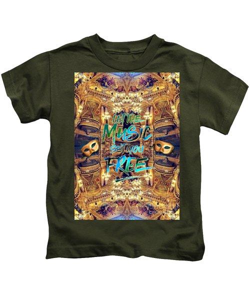 Let The Music Set You Free Opera Garnier Paris France Kids T-Shirt
