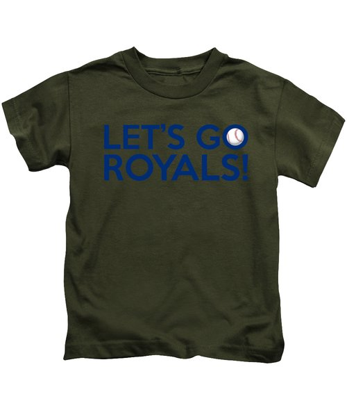 Let's Go Royals Kids T-Shirt by Florian Rodarte