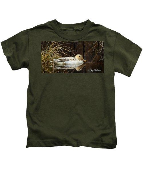 Leucistic Mallard Kids T-Shirt