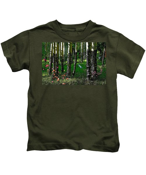 Life Among The Aspens Kids T-Shirt