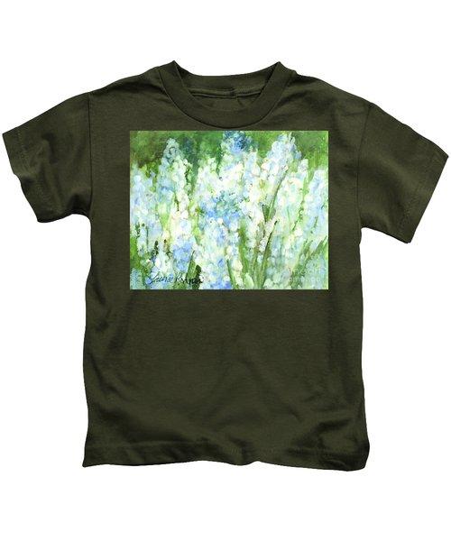 Light Blue Grape Hyacinth. Kids T-Shirt