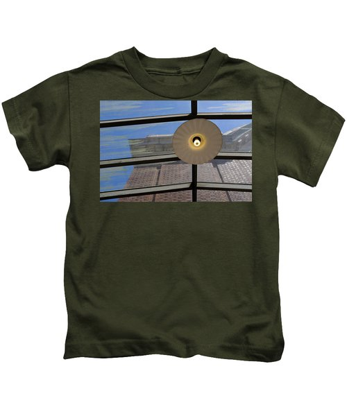 Light On A Dirty Glass Ceiling In Tacoma Washington Kids T-Shirt