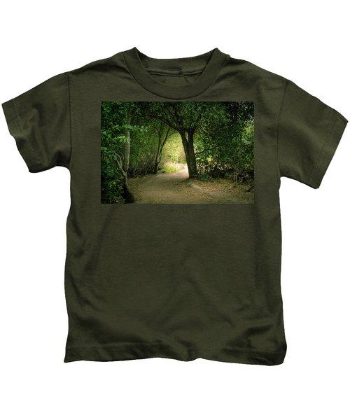 Light Through The Tree Tunnel Kids T-Shirt