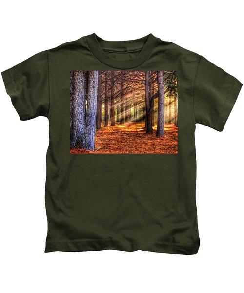 Light Thru The Trees Kids T-Shirt