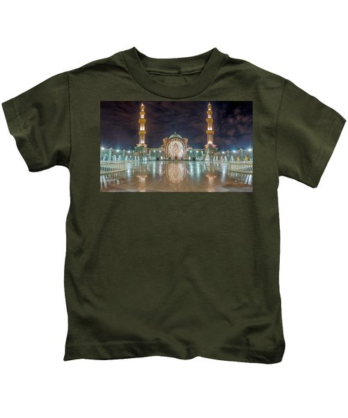 Lighted Federal Territory Mosque  Kids T-Shirt