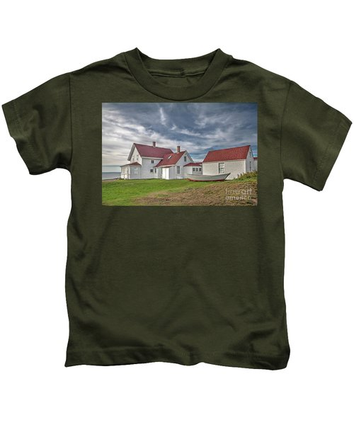 Keepers House At The Monheagn Lighthouse Kids T-Shirt