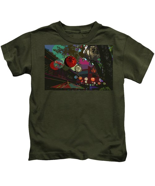 lights are on in little Tokyo Kids T-Shirt