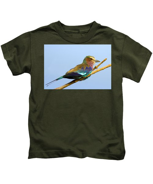 Lilac-breasted Roller Kids T-Shirt