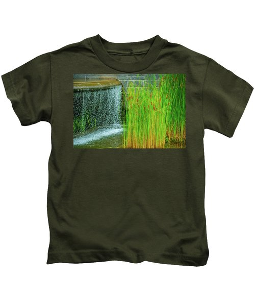 Lilly Pond In Battery Park Kids T-Shirt