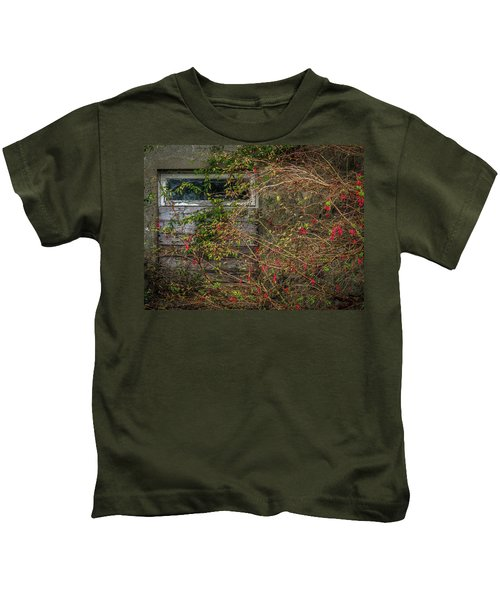 Kids T-Shirt featuring the photograph Lingering Blooms In Autumn by James Truett