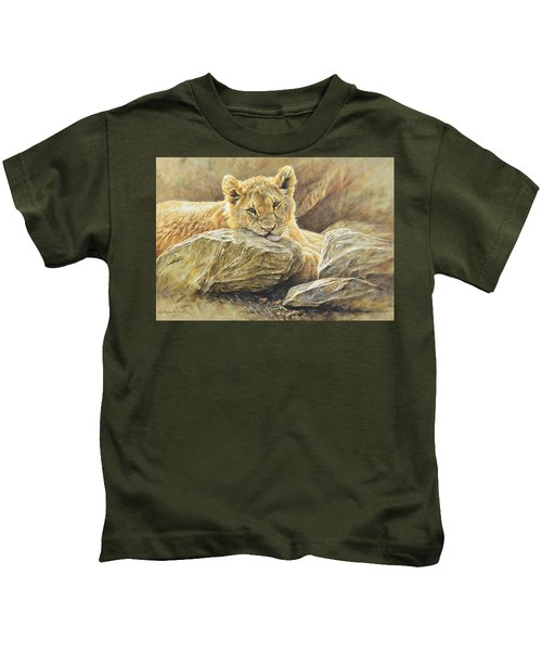 Lion Cub Study Kids T-Shirt