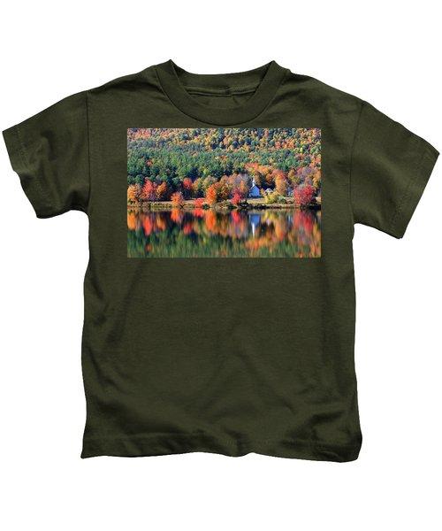 'little White Church', Eaton, Nh Kids T-Shirt
