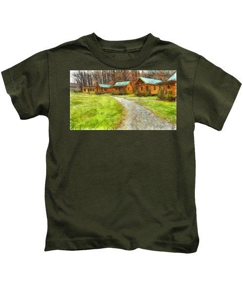 Log Cabins Pencil Kids T-Shirt