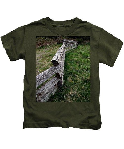 Log Fence Kids T-Shirt