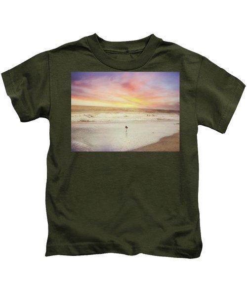 Lone Bird At Sunset Kids T-Shirt