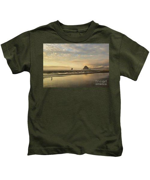 Sunset At Haystack Rock Kids T-Shirt