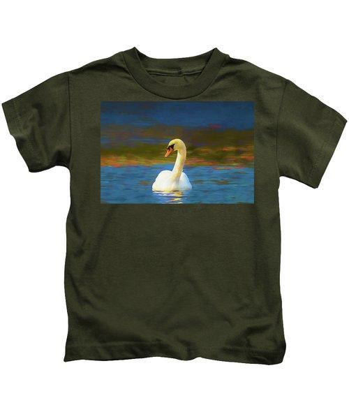 Lone Mute Swan. Kids T-Shirt