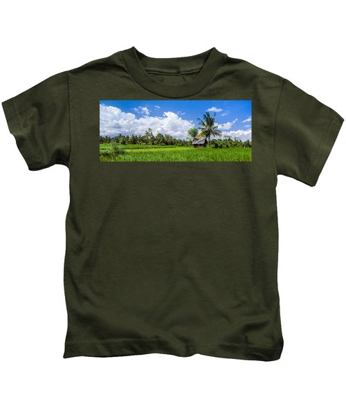 Lonely Rice Hut Kids T-Shirt