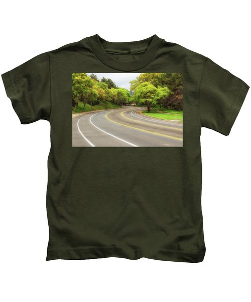 Long And Winding Road Kids T-Shirt