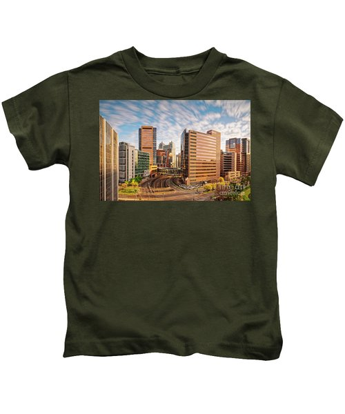 Long Exposure View Of The Texas Medical Center Houston Harris County - Southeast Texas Kids T-Shirt