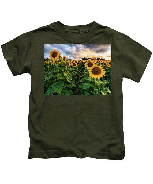 Long Island Sunflowers  Kids T-Shirt