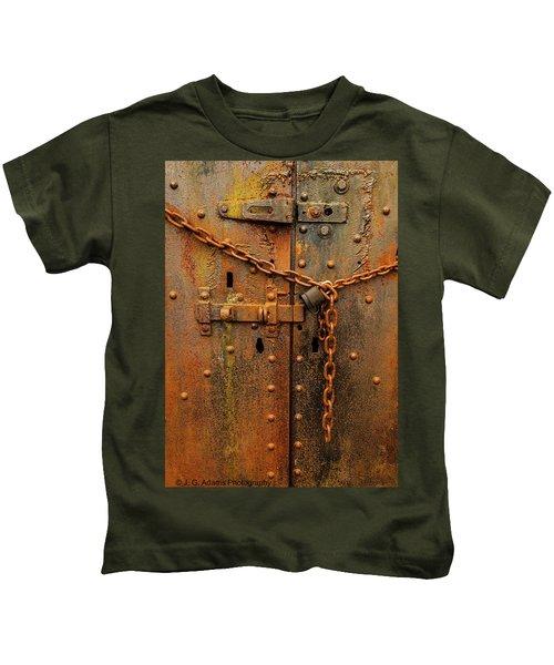Long Locked Iron Door Kids T-Shirt