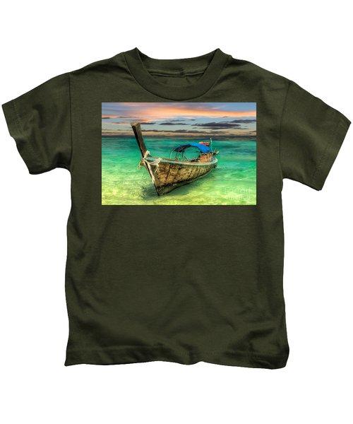 Longboat Sunset Kids T-Shirt