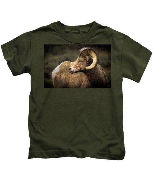Looking Back - Bighorn Sheep Kids T-Shirt