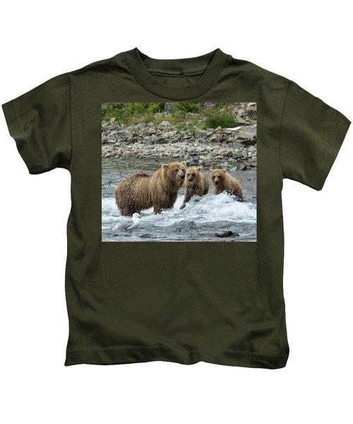 Looking For Sockeye Salmon Kids T-Shirt