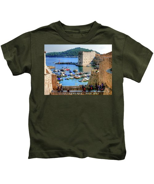 Looking Out Onto Dubrovnik Harbour Kids T-Shirt