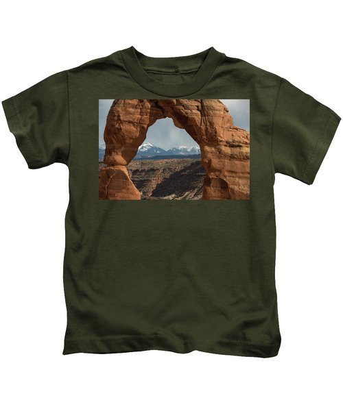 Looking Through Delicate Arch Kids T-Shirt