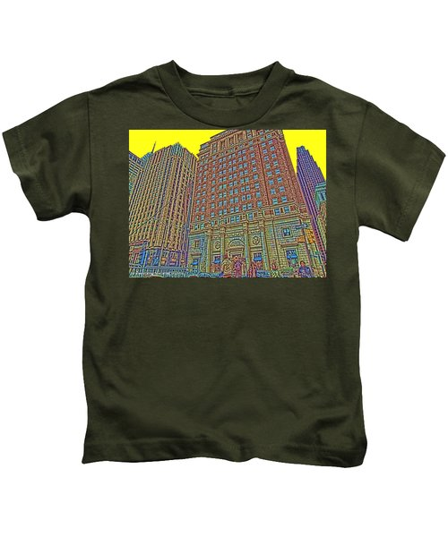 Looking Up In Love Park Kids T-Shirt