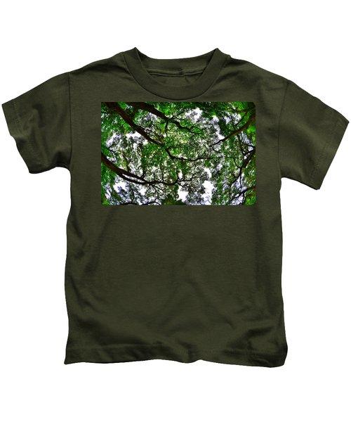Looking Up The Oaks Kids T-Shirt