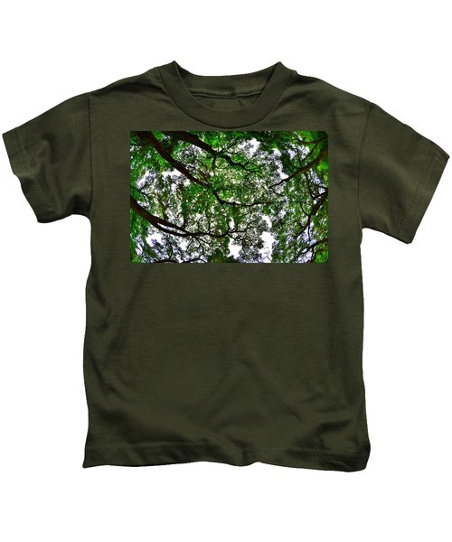 Looking Up The Oaks Kids T-Shirt