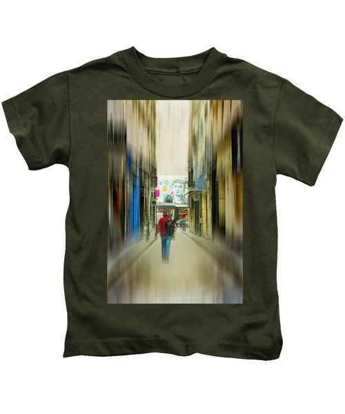 Lost In The Maze Of The City Kids T-Shirt