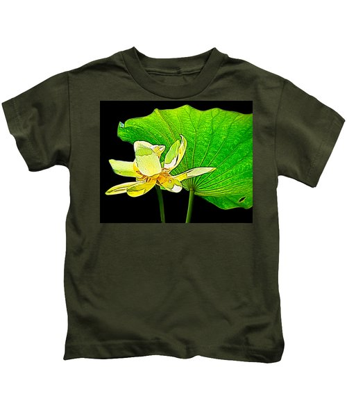Lotus Flower, Digtal Art Kids T-Shirt