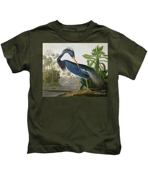 Louisiana Heron Kids T-Shirt