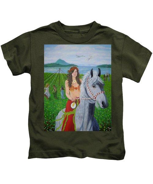 Lover / Virgin Goddess Rhiannon - Beltane Kids T-Shirt