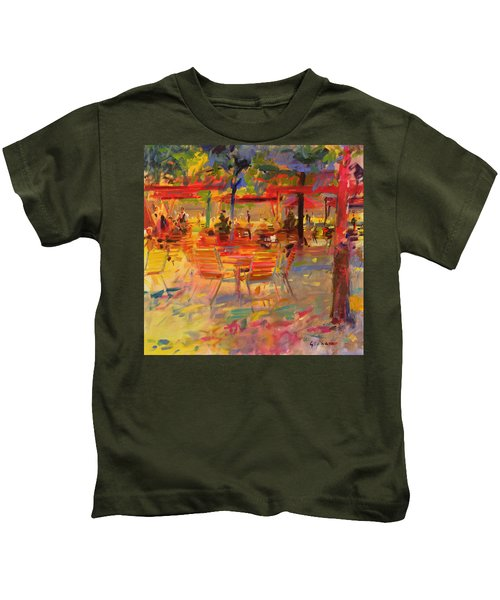Lunch On The Terrace Kids T-Shirt